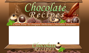 Thumbnail Chocolate Recipes PSD Minisite HTML Graphics Ready Made Web Template