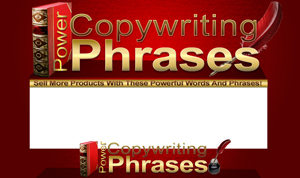 Thumbnail Copywriting Power phrases PSD Minisite HTML Graphics Ready Made Web Template