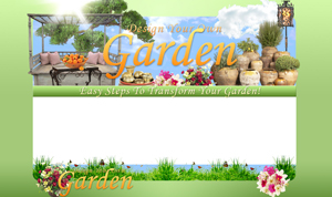 Thumbnail Design Your Own Garden PSD Minisite HTML Graphics Ready Made Web Template