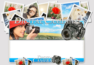 Thumbnail Digital Cameras PSD Minisite HTML Graphics Ready Made Web Template