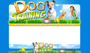 Thumbnail Dog Training PSD Minisite HTML Graphics Ready Made Web Template