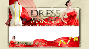 Thumbnail Dress Making PSD Minisite HTML Graphics Ready Made Web Template