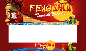 Thumbnail Feng Shui PSD Minisite HTML Graphics Ready Made Web Template