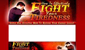 Thumbnail Fight Your Tiredness PSD Minisite HTML Graphics Ready Made Web Template