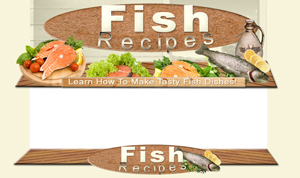 Thumbnail Fish Recipes PSD Minisite HTML Graphics Ready Made Web Template