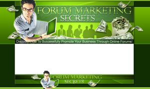 Thumbnail Forum Marketing Secrets PSD Minisite HTML Graphics Ready Made Web Template