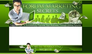 Thumbnail Forum Marketing Secrets PSD Minisite HTML Graphics Ready Made Web Template