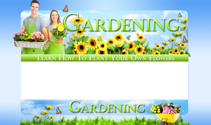 Thumbnail Gardening PSD Minisite HTML Graphics Ready Made Web Template