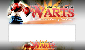 Thumbnail Get Rid Of Warts PSD Minisite HTML Graphics Ready Made Web Template
