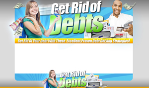 Thumbnail Getting Out Of Debt PSD Minisite HTML Graphics Ready Made Web Template