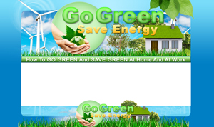 Thumbnail Go Green Save Energy PSD Minisite HTML Graphics Ready Made Web Template