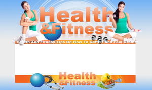 Thumbnail Health And Fitness PSD Minisite HTML Graphics Ready Made Web Template