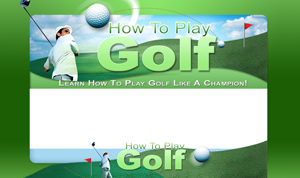 Thumbnail How To Play Golf PSD Minisite HTML Graphics Ready Made Web Template