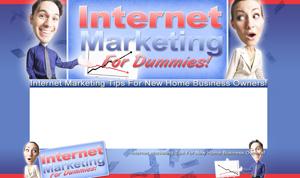 Thumbnail Internet Marketing PSD Minisite HTML Graphics Ready Made Web Template