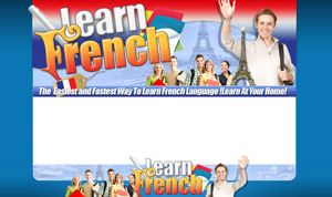 Thumbnail Learn French PSD Minisite HTML Graphics Ready Made Web Template