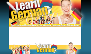 Thumbnail Learn German PSD Minisite HTML Graphics Ready Made Web Template