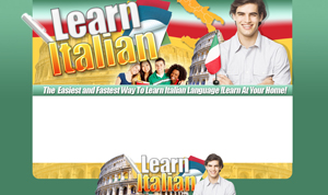Thumbnail Learn Italian PSD Minisite HTML Graphics Ready Made Web Template