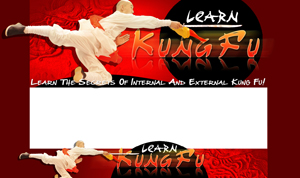 Thumbnail Learn Kung Fu PSD Minisite HTML Graphics Ready Made Web Template