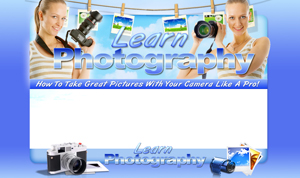 Thumbnail Learn Photography PSD Minisite HTML Graphics Ready Made Web Template