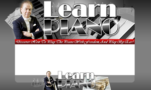 Thumbnail Learn Piano PSD Minisite HTML Graphics Ready Made Web Template