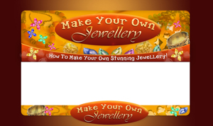 Thumbnail Make Your Own Jewellry PSD Minisite HTML Graphics Ready Made Web Template