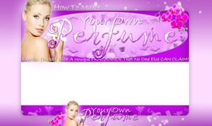Thumbnail Make Your Own Perfume PSD Minisite HTML Graphics Ready Made Web Template