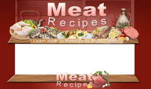 Thumbnail Meat Recipes PSD Minisite HTML Graphics Ready Made Web Template
