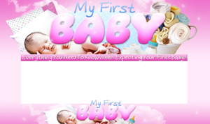 Thumbnail My First Baby PSD Minisite HTML Graphics Ready Made Web Template