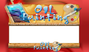 Thumbnail Oil Painting PSD Minisite HTML Graphics Ready Made Web Template