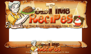 Thumbnail Old Time Recipes PSD Minisite HTML Graphics Ready Made Web Template