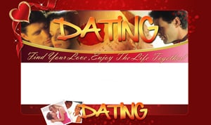 Thumbnail Online Dating PSD Minisite HTML Graphics Ready Made Web Template