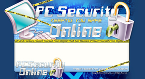 Thumbnail PC Security PSD Minisite HTML Graphics Ready Made Web Template