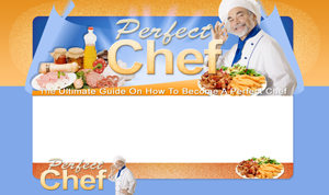 Thumbnail Perfect Chef PSD Minisite HTML Graphics Ready Made Web Template