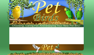 Thumbnail Pet Birds PSD Minisite HTML Graphics Ready Made Web Template