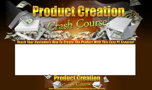 Thumbnail Product Creation Crash Course PSD Minisite HTML Graphics Ready Made Web Template