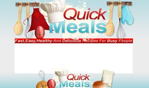Thumbnail Quick Meals PSD Minisite HTML Graphics Ready Made Web Template