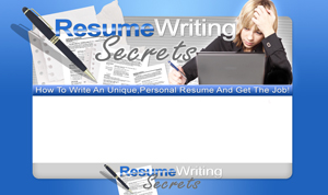 Thumbnail Resume Writing Secrets 1 PSD Minisite HTML Graphics Ready Made Web Template