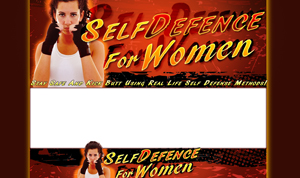 Thumbnail Self Defense For Women PSD Minisite HTML Graphics Ready Made Web Template