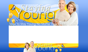 Thumbnail Staying Young PSD Minisite HTML Graphics Ready Made Web Template