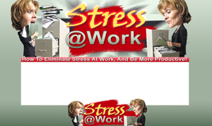 Thumbnail Stress At Work PSD Minisite HTML Graphics Ready Made Web Template