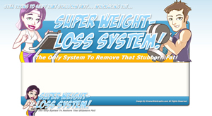 Thumbnail Super Weight Loss System PSD Minisite HTML Graphics Ready Made Web Template