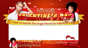 Thumbnail SurvivingValentinesDayAlone PSD Minisite HTML Graphics Ready Made Web Template