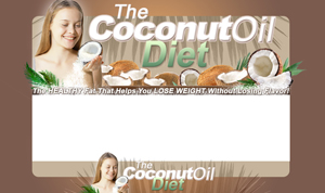 Thumbnail The Coconut Oil Diet PSD Minisite HTML Graphics Ready Made Web Template