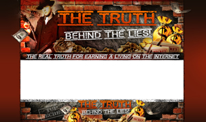 Thumbnail The Truth Behind The Lies PSD Minisite HTML Graphics Ready Made Web Template