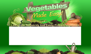Thumbnail Vegetables Made Easy PSD Minisite HTML Graphics Ready Made Web Template