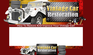 Thumbnail Vintage Car Restoration PSD Minisite HTML Graphics Ready Made Web Template