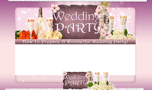 Thumbnail Wedding Party PSD Minisite HTML Graphics Ready Made Web Template