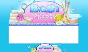 Pay for Bath Recipes PSD Minisite HTML Graphics Ready Made Web Template