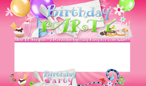 Pay for Birthday Parties PSD Minisite HTML Graphics Ready Made Web Template