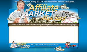 Pay for Affiliate Marketing PSD Minisite HTML Graphics Ready Made Web Template